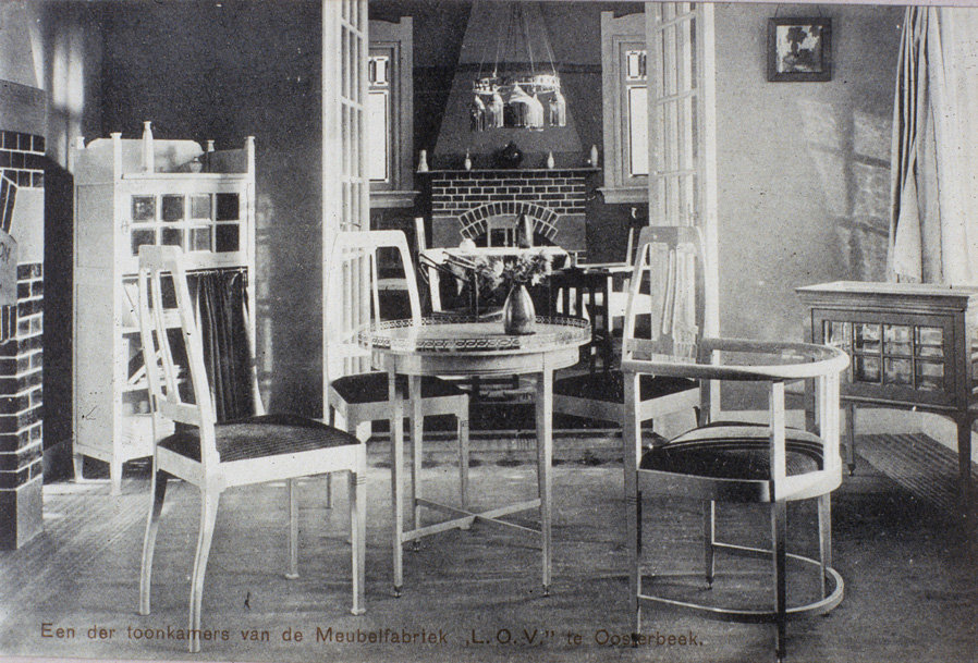Toonkamer van de meubelfabriek LOV