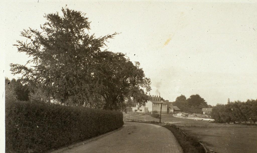 De vooroorlogse gasfabriek gezien vanaf de Veerweg, nabij het Drielse veer.