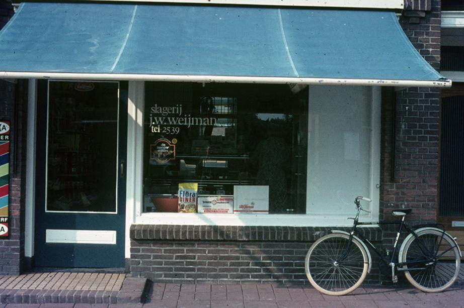 Slagerij Weijman aan de Joubertweg 31.
