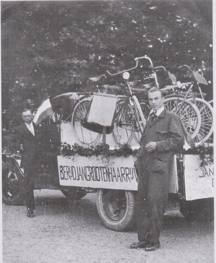 Jan Grootenhaar tijdens een reclamecampagne.
