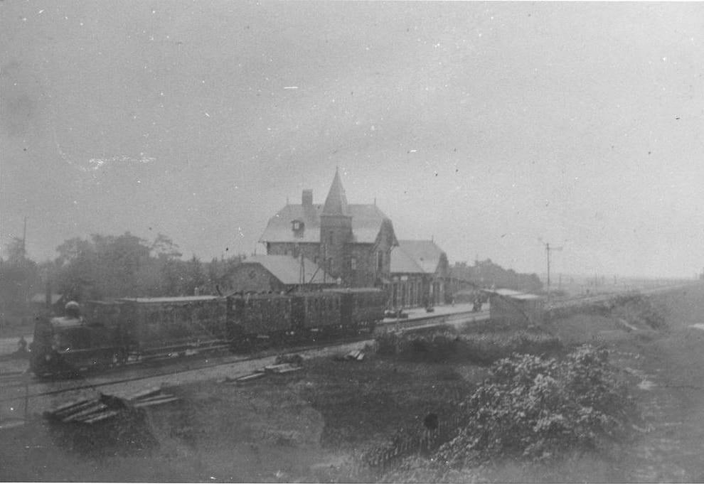 Station Oosterbeek Laag, rond 1885.