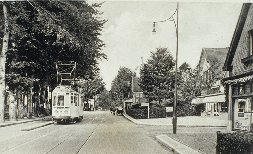 Links de ingang van de Noorderweg in 1935