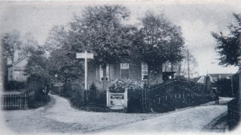 De ingang van het Jagerskamp nabij de Weverstraat.