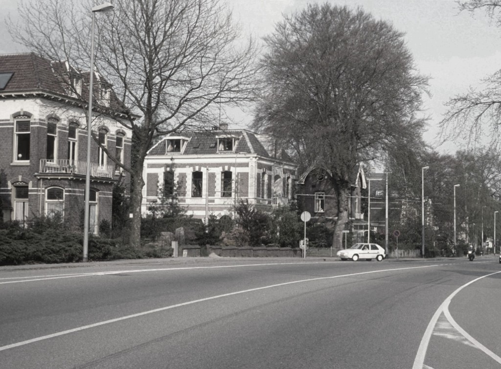 V.l.n.r.p de op de westhoek van de Steijnweg gelegen villa (183) en op de oosthoek van de Steijnweg achtereenvolgens richting Mariaweg gelegen 181 t/m 173.
