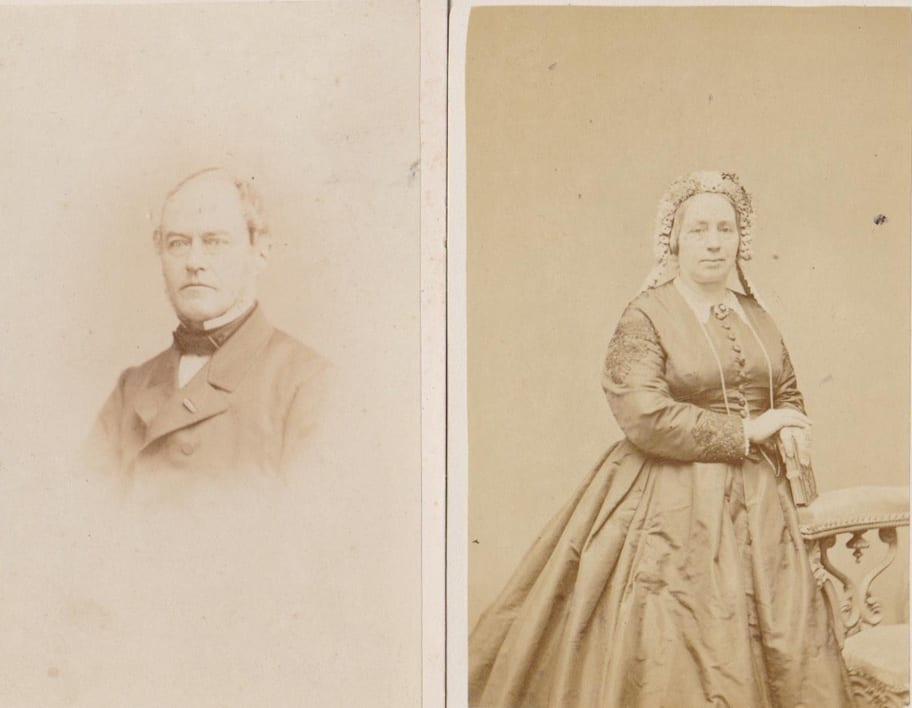 Ds. J.C. van Marken en echtgenote in 1866