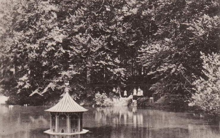 Op de vorige afbeelding staat de fotograaf nu rechts, voor de eendjeshok en kijkt oostwaarts.