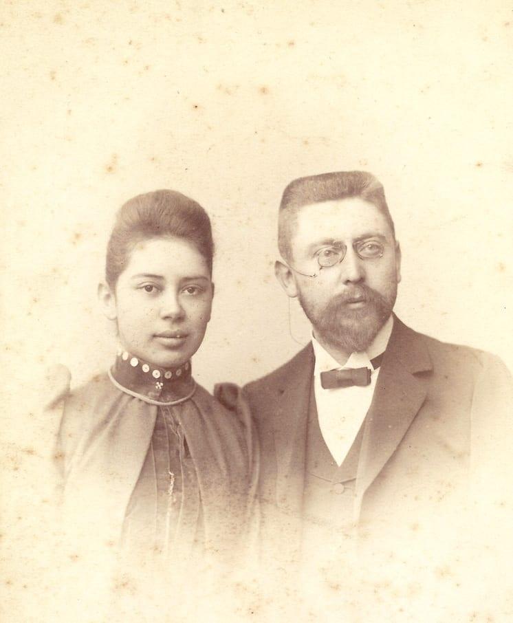 Anna Wolterbeek en Carl Frowein