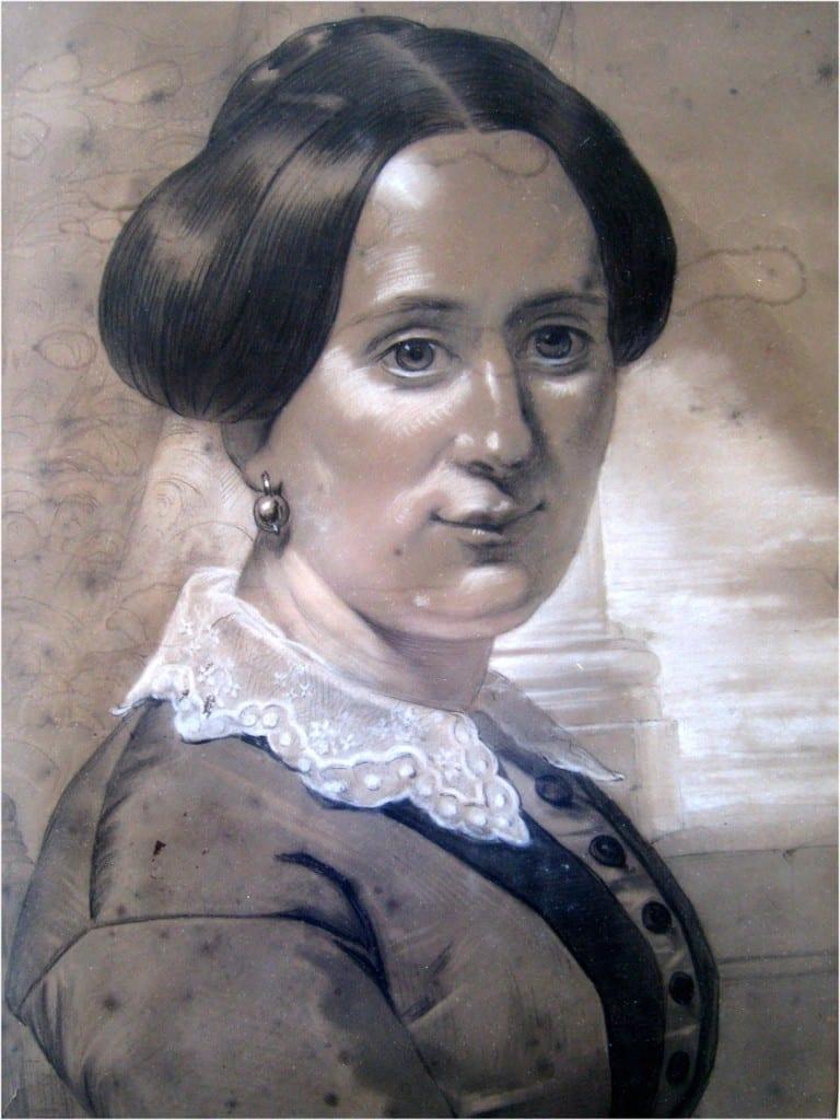Marianne Antoinette Wolterbeek. Pastel van de hand van haar zus Anna Henriette.