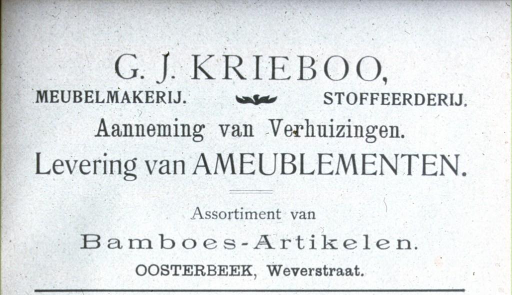 Annonce uit de wandelgids voor Oosterbeek en omgeving.