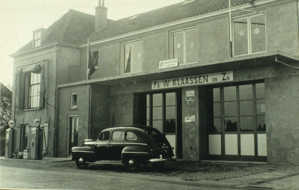 Garage Klaassen na WOII.
