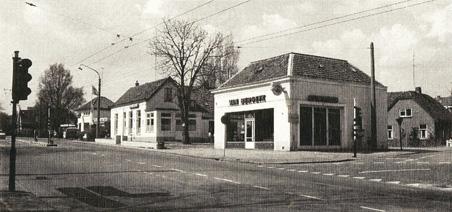 Garage Bergeyk op de plek van het huidige benzinestation aan de Utrechtseweg