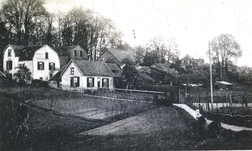 Zelfde plek in later jaren. Foto rond 1950.