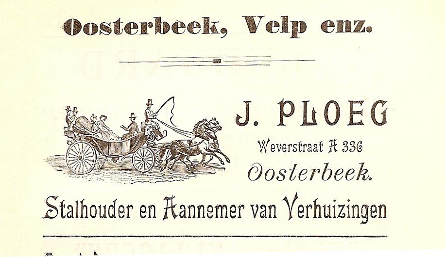 Annonce van de stalhouder J. Ploeg.
