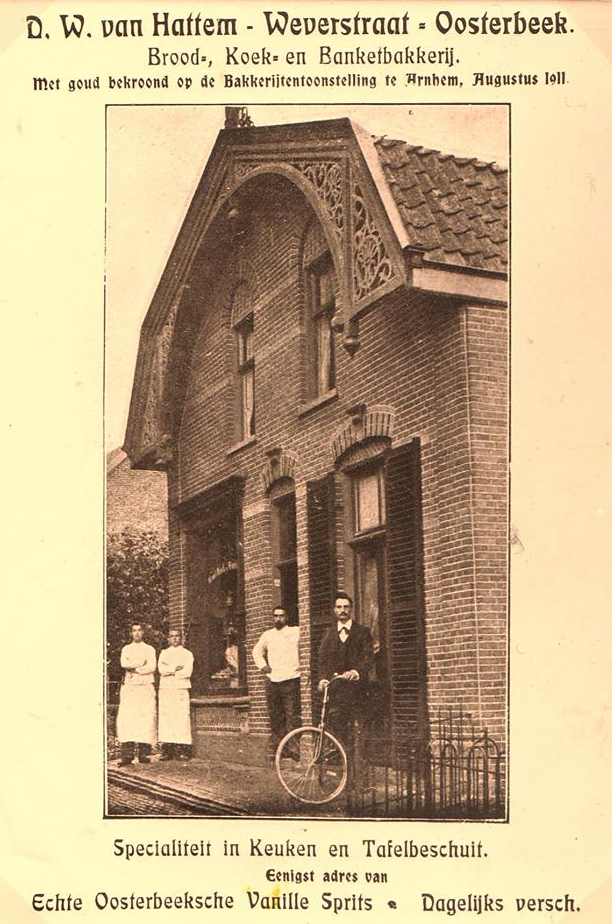 Annonce in de Gids voor Oosterbeek 1912 van bakkerij Van Hattum.
