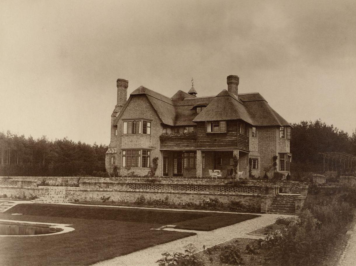 Het landhuis in vroeger tijd.