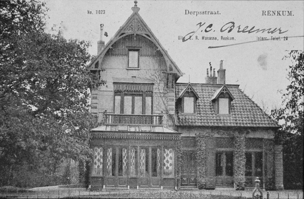 """De villa """"Roozenburg"""" Dorpsstraat 135. De oorspronkelijke bebouwing stamt uit 1848"""