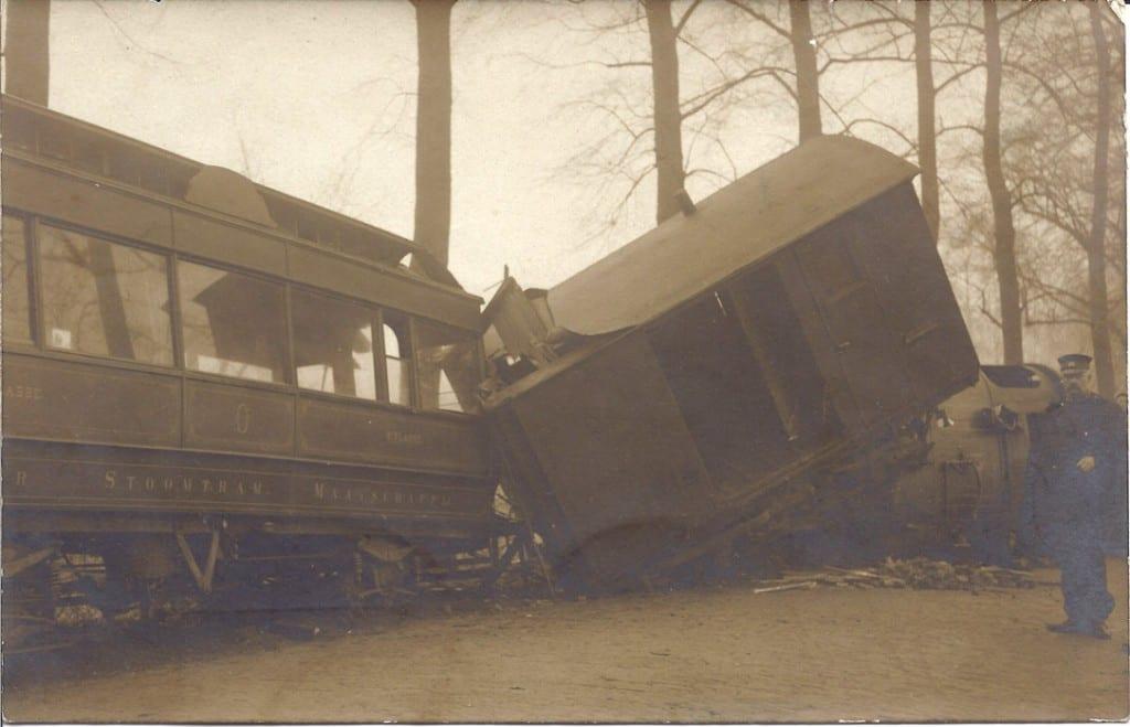 0898 ontspoorde tram Bokkedijk Renkum 1917