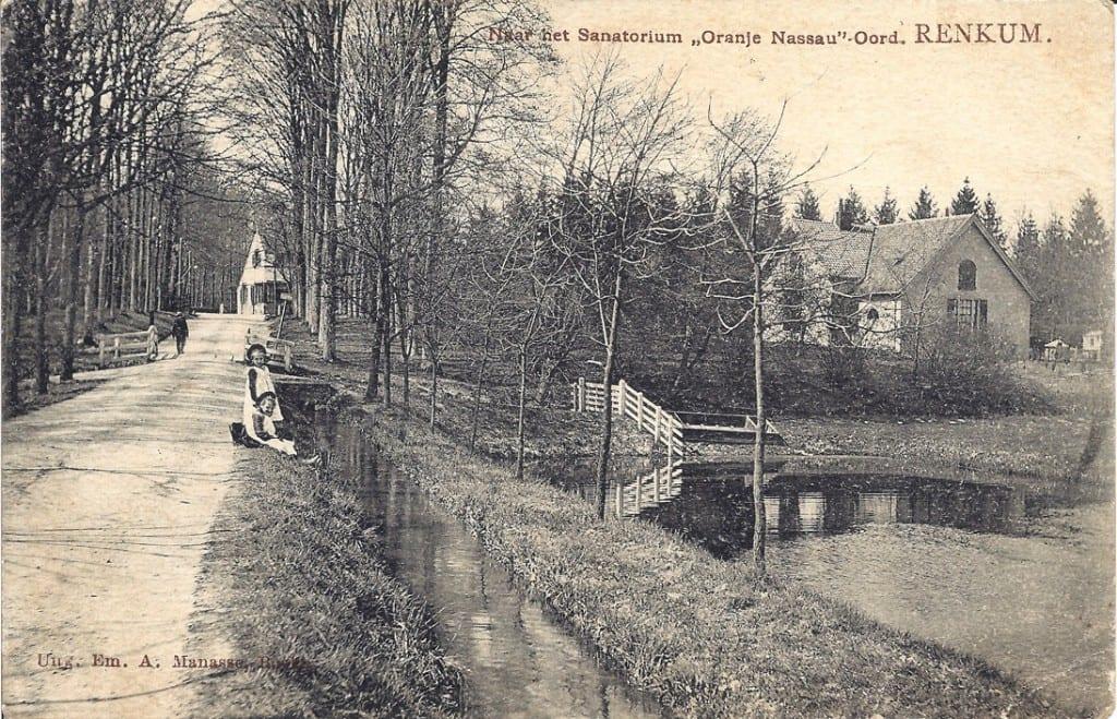 Links en rechts van de Grunsfoortse Dijk bevonden zich waterpartijen die door het sprengenrijke gebied werden gevoed.