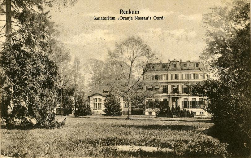 Het hoofdgebouw, tevens eerste klasse gebouw van het sanatorium.