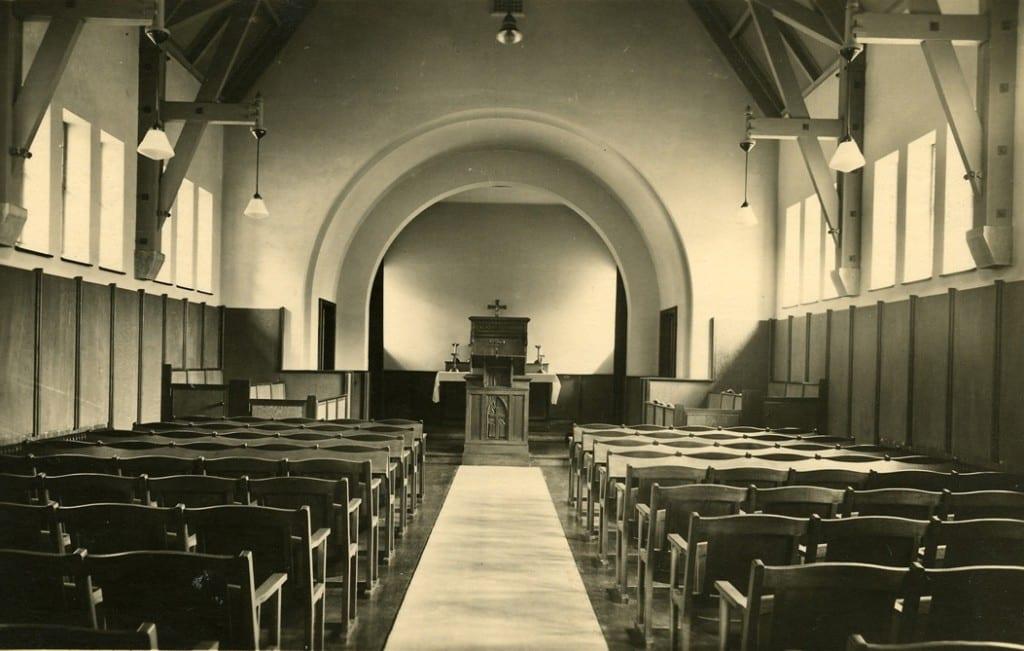 Het interieur van de kapel.