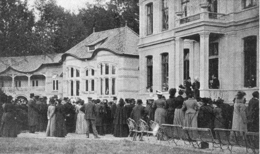 De opening van het sanatorium op 26 oktober 1901.