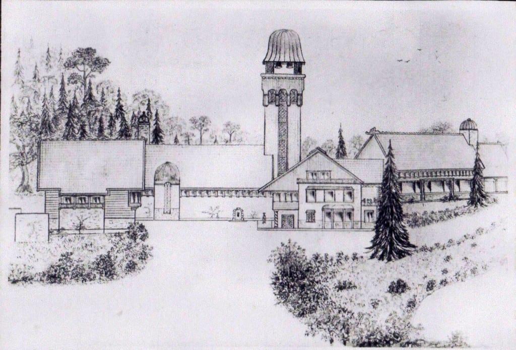 De tekening van het Jagershuis als door Driessen genoemd.