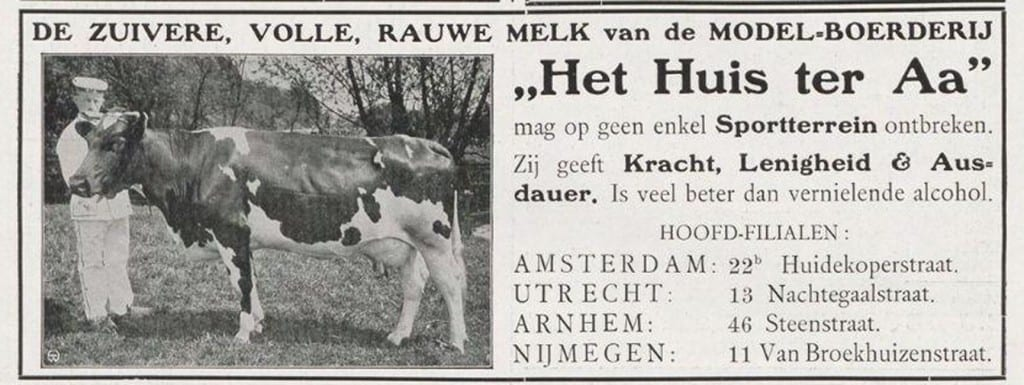 Advertentie in de Revue der Sporten, 1909