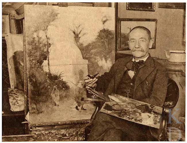 Gert Stegeman in zijn atelier in de Sabelspoort Foto RKD, Den Haag